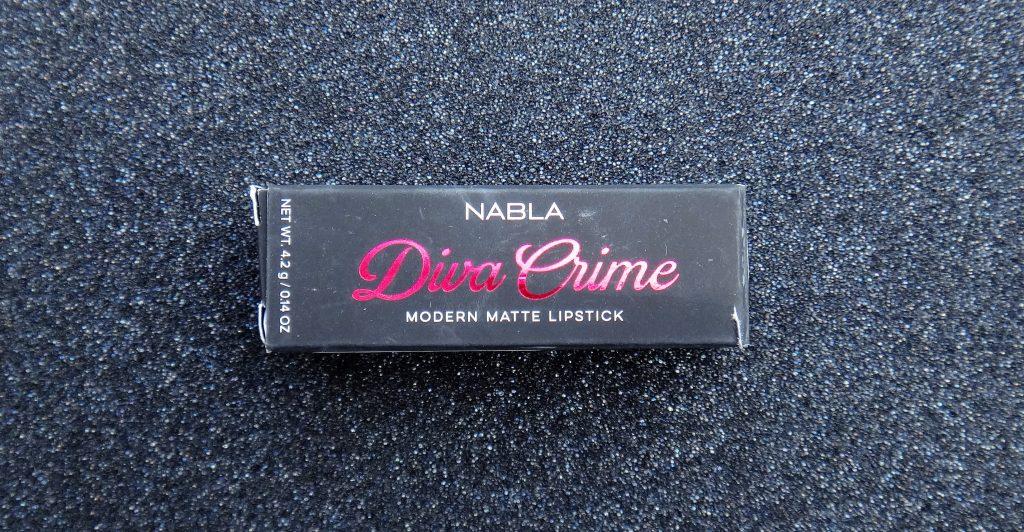 Première commande véganie NABLA COSMETICS – Rouge à lèvres Diva Crime