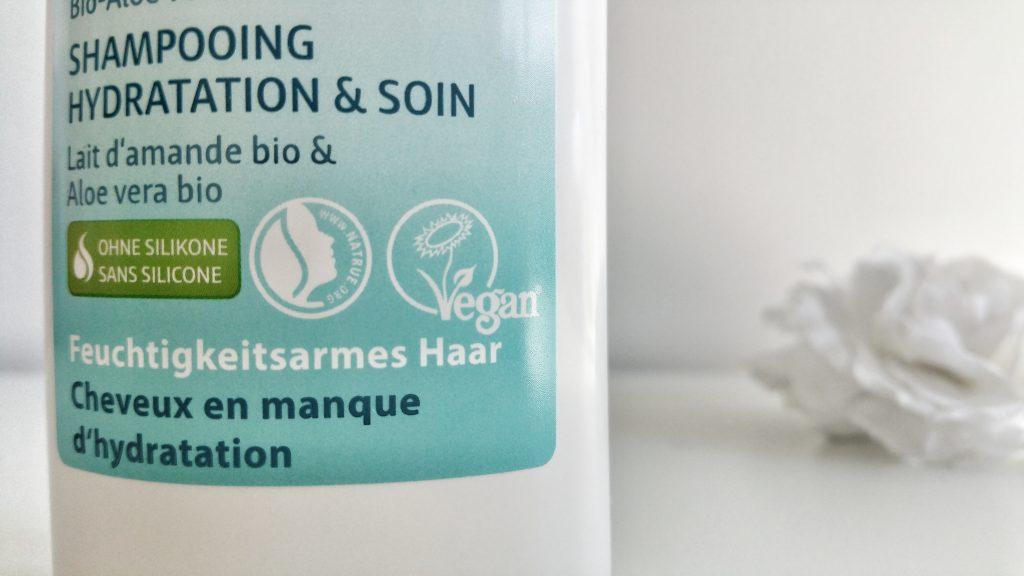 Shampooing hydratation et soin Lavera natrue et vegan