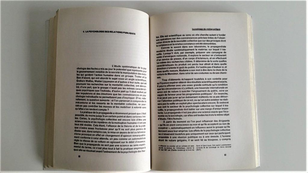Propaganda Edward Bernay chapitre 4