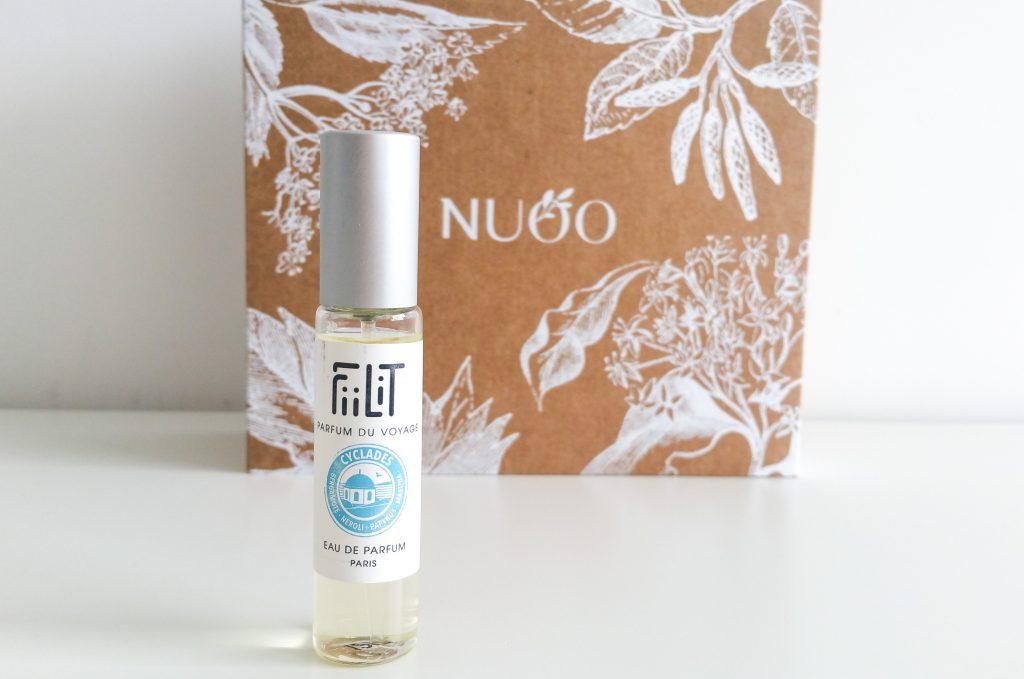 La box de janvier NuooBox Fiiliy eau de parfum cyclades