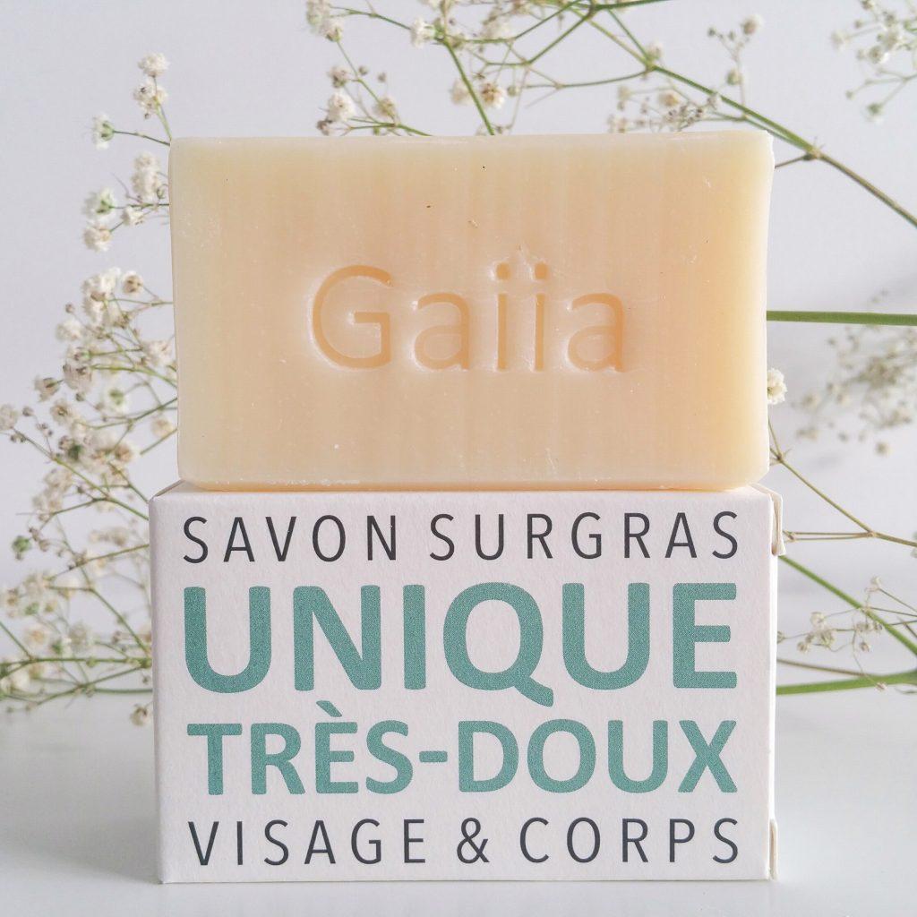 Le savon surgras très doux de Gaiia