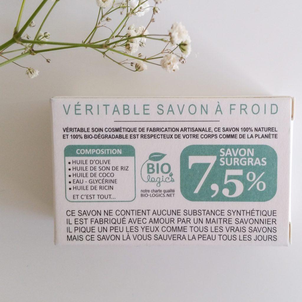 Le savon surgras très doux de Gaiia saponifié à froid