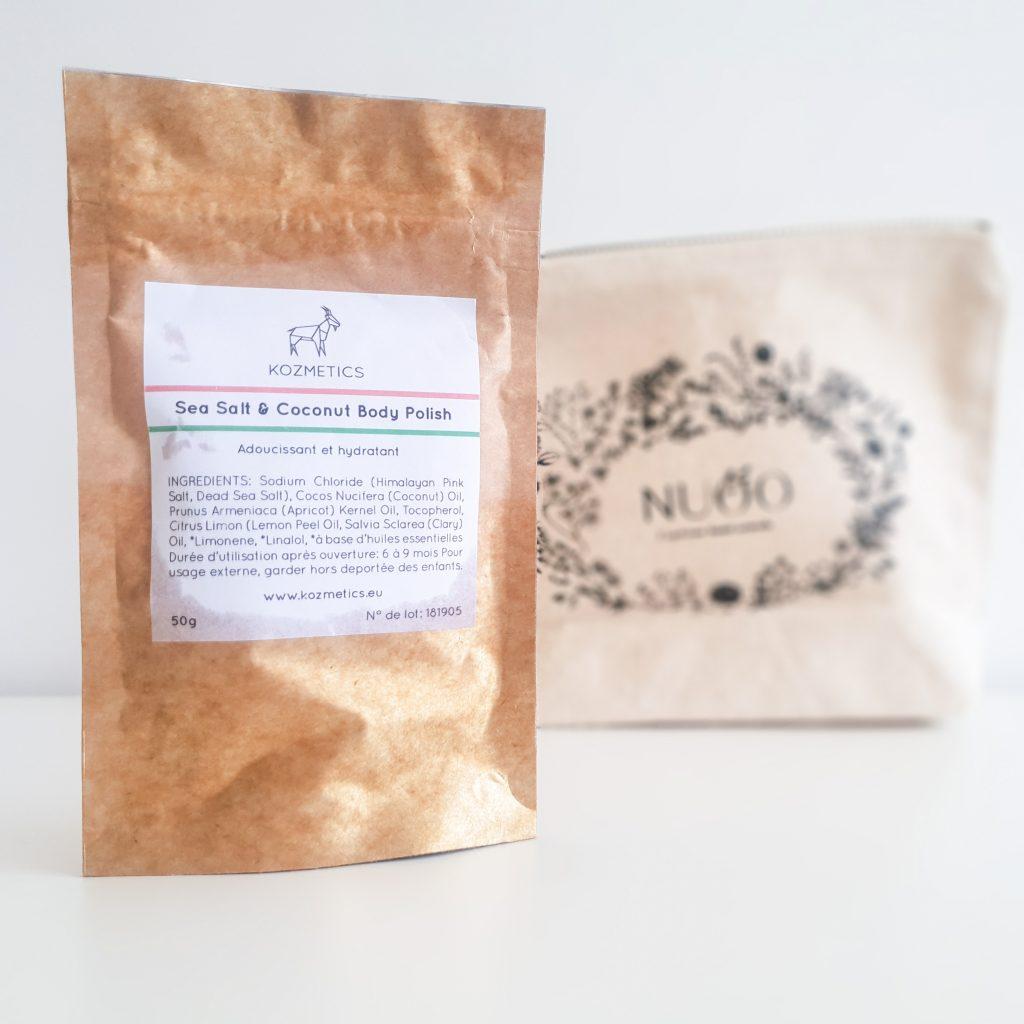 Secrets de beauté (Nuoo Box – Mai 2018) KOZMETICS – Gommage corps à la noix de coco et au sel marin