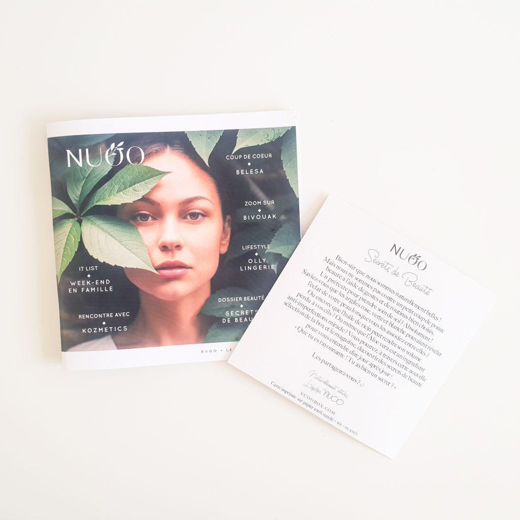 Secrets de beauté (Nuoo Box – Mai 2018) Magazine