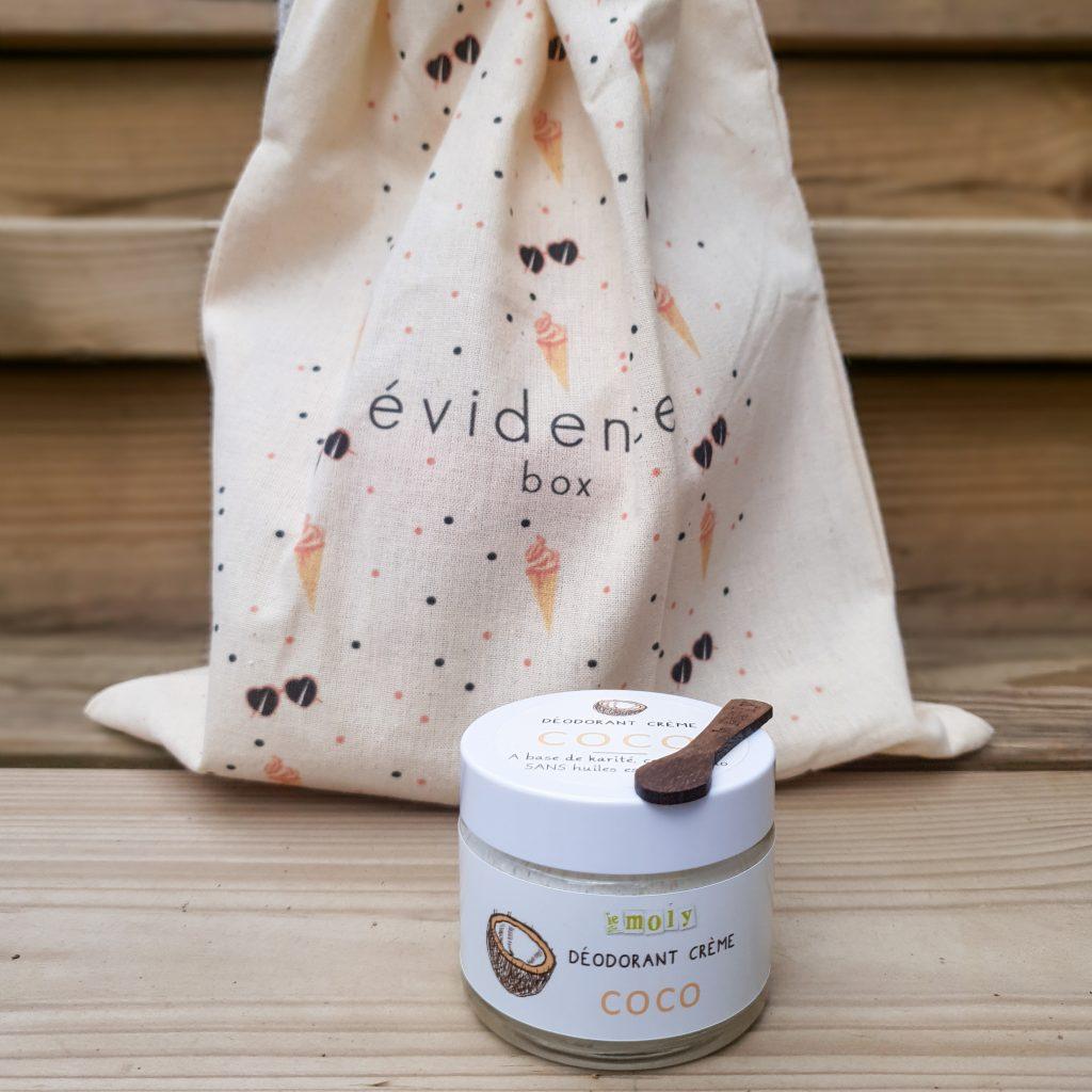 Glaces et Sunglasses [Box évidence – Juin 2018] LE MOLY – Déodorant crème coco