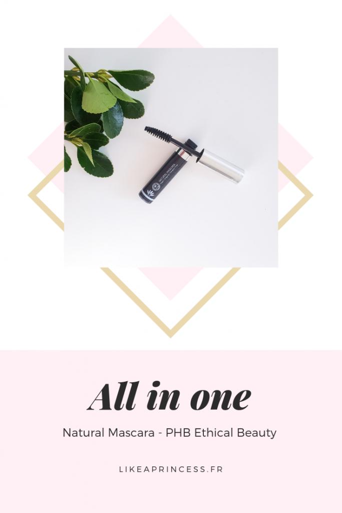 All in one Natural Mascarale meilleur mascara du monde par PHB Ethical Beauty Pinterest