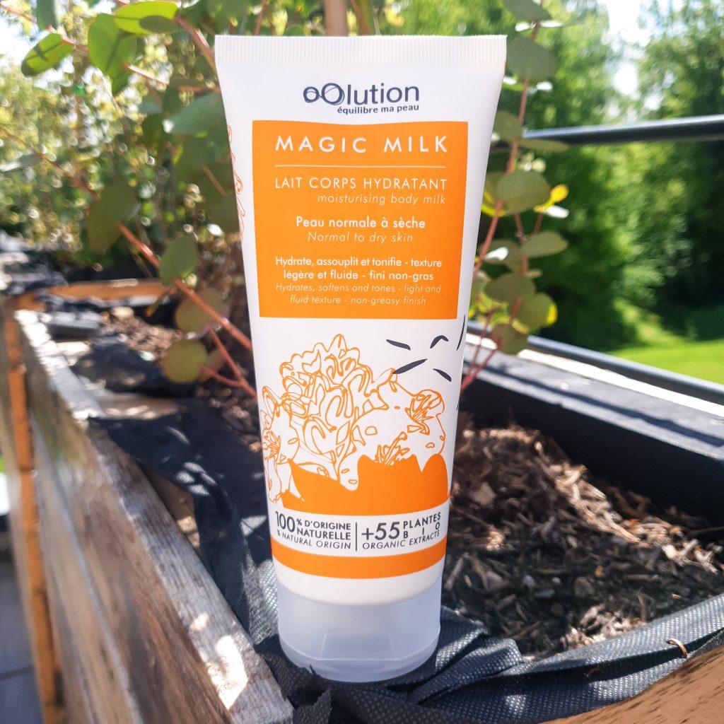 Magic Milkle lait hydratant bio pour les pressés – oOlution