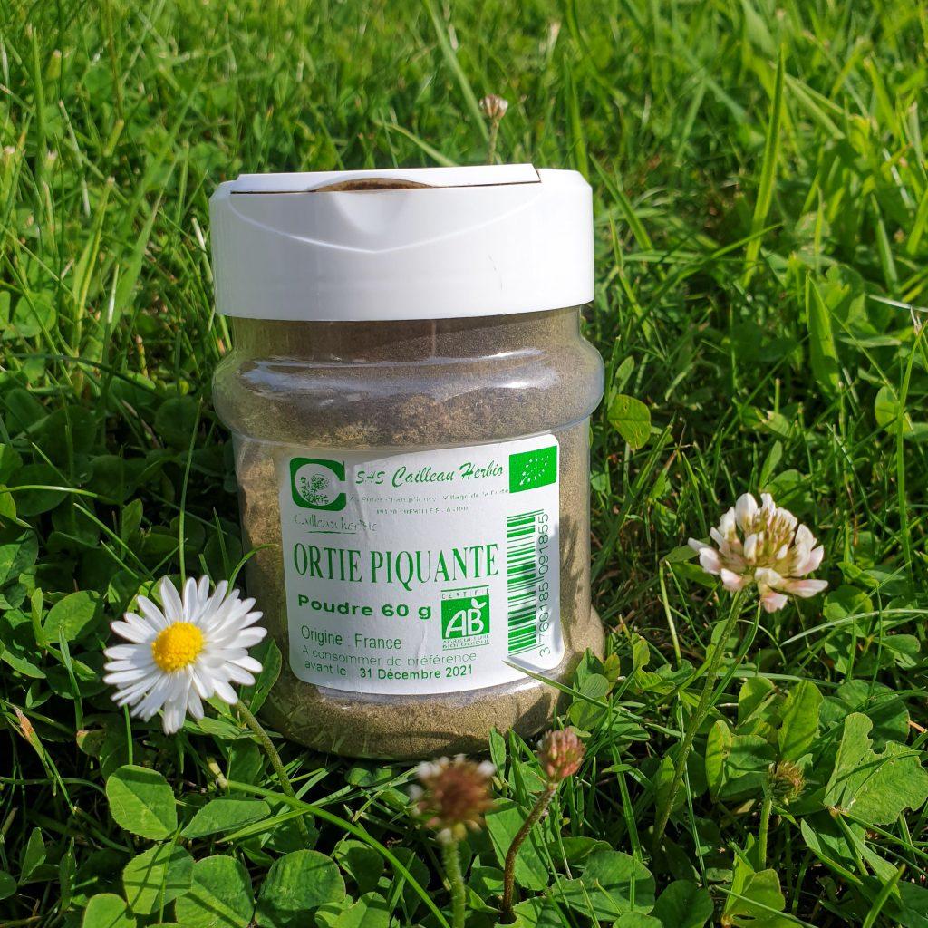 Ménage de printemps Ma Bulle Naturo – Mai Juin 2019 CAILLEAU HERBIO – Poudre d'ortie piquante bio