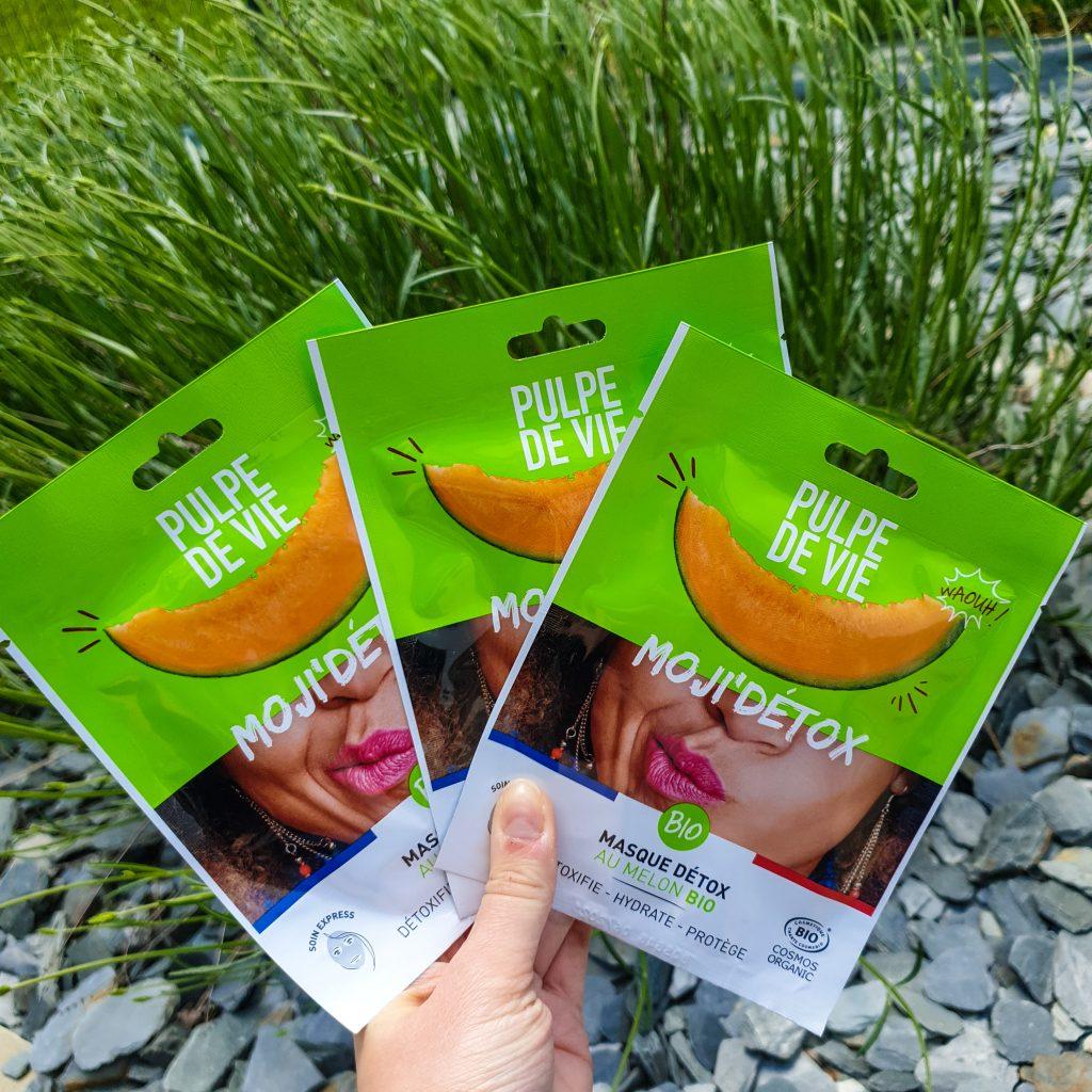 Moji'détox Masque détox au melon bio Détoxifie Hydrate Protège