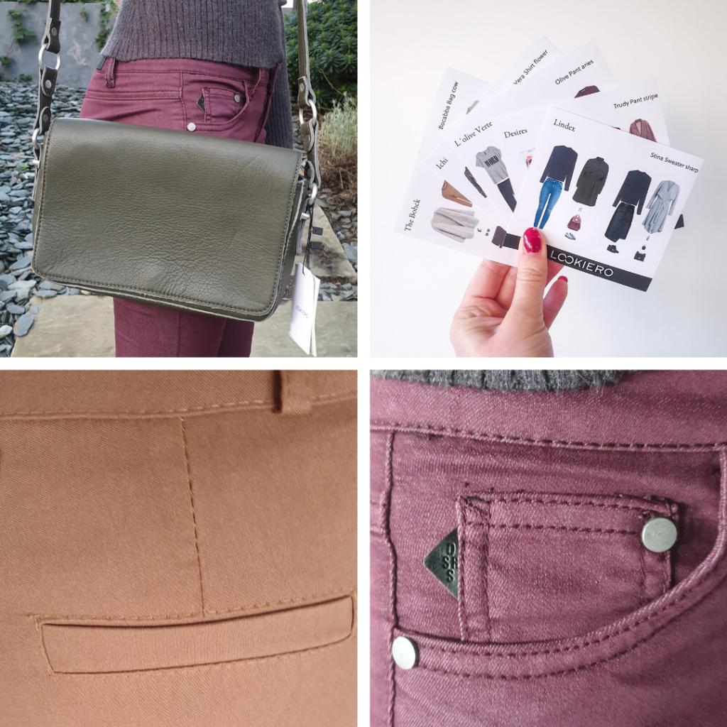 Seconde box Lookiero novembre 2019 Détails tenus poches et sac