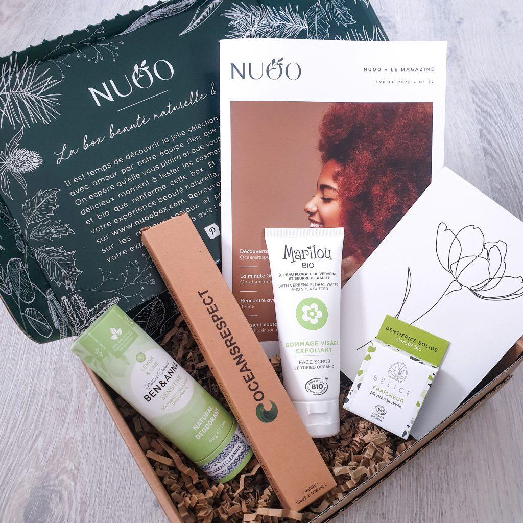 L'acidulée [Nuoo Box - Février 2020] Box beauté bio