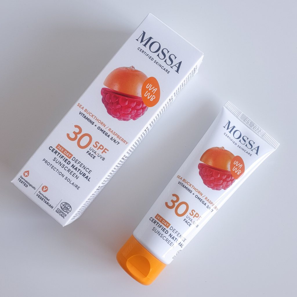 Crème solaire pour le visage SPF30 de Mossa