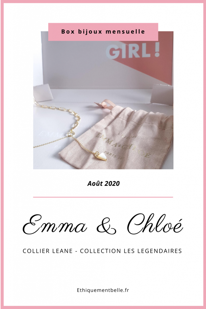 épingle Pinterest bijou collier leane emma & chloé