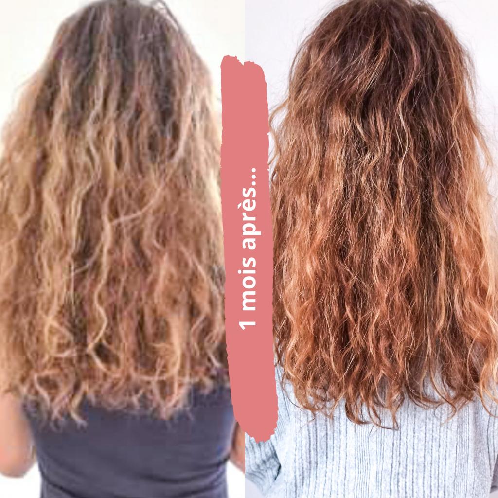 Photo avant / après de la cure Hair boost de Madame la présidente