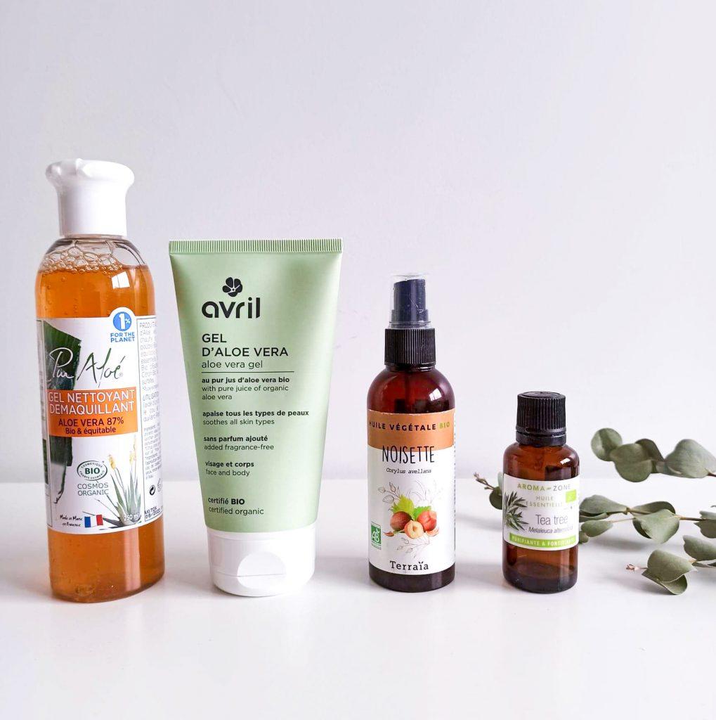 Routine anti-acné hormonale composée de 4 produits