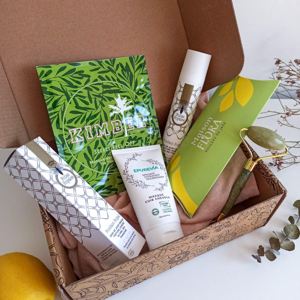 Photo de la box belle au naturel Renaissance printanière ouverte contenant 4 produits