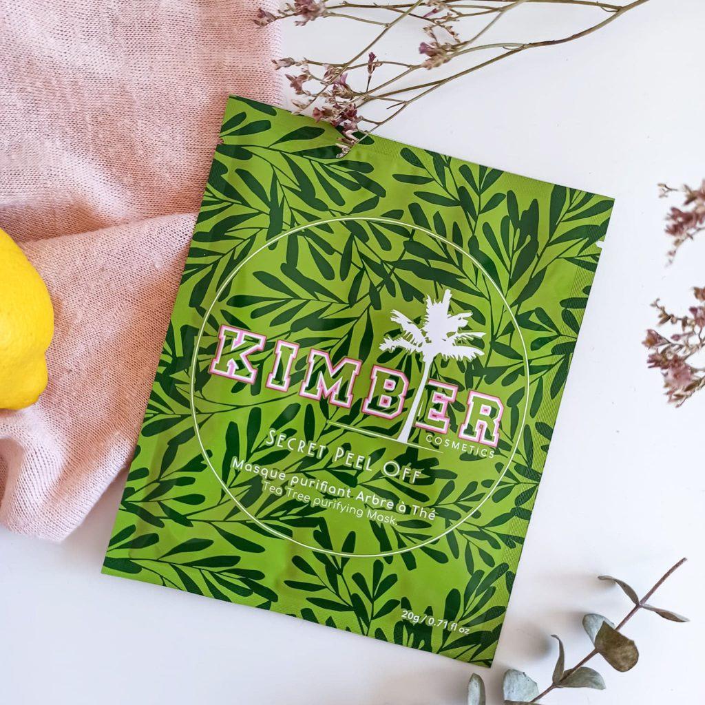 Masque peel-off au tea tree de Kimber cosmetics
