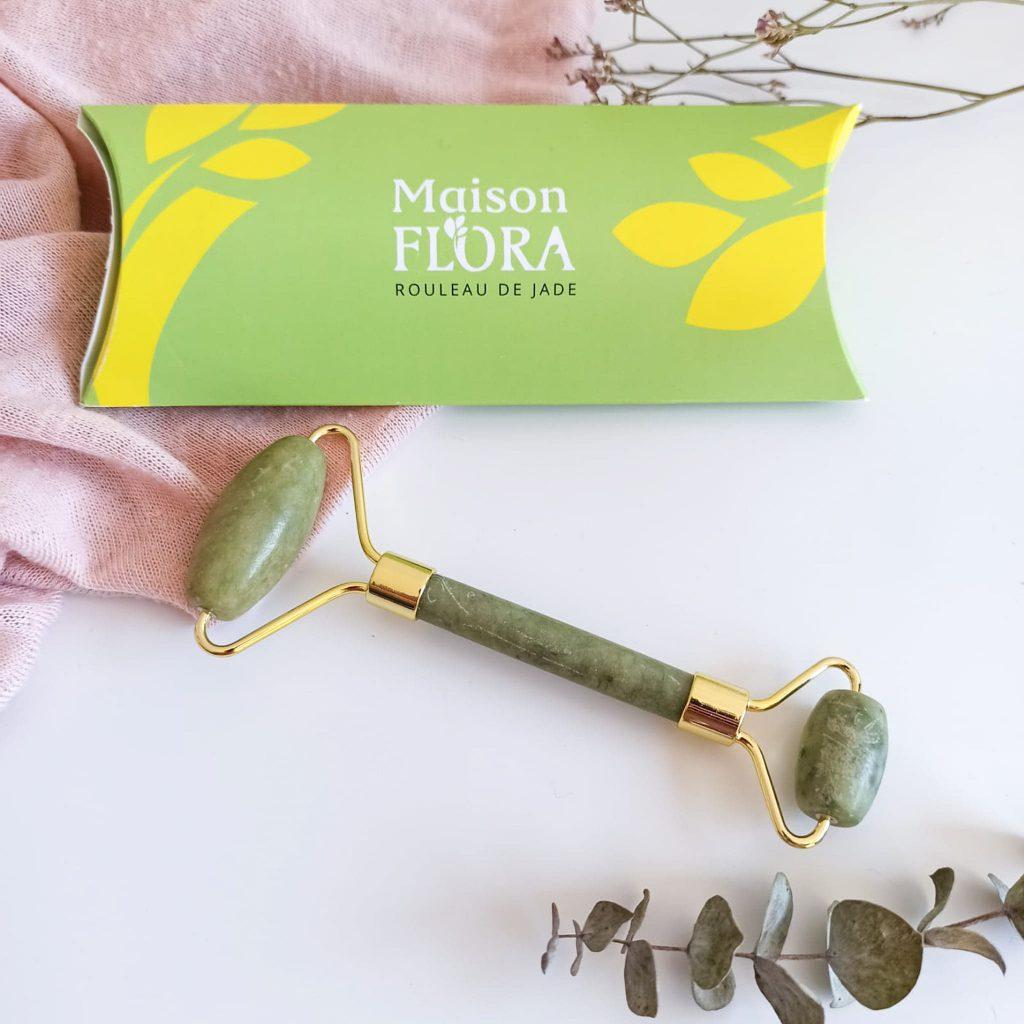 Photo du rouleau de jade hors du carton de la marque Maison flora